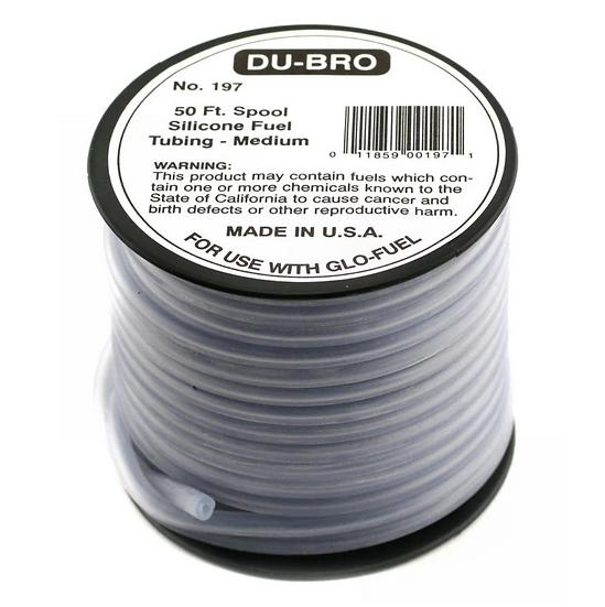 DUBRO Durite Glow Fuel (Méthanol) Silicone 2.5mm X 5.40mm DUB197