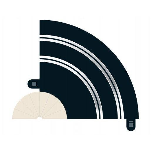 Scalextric Radius 1 Hairpin Curve 2x 90°