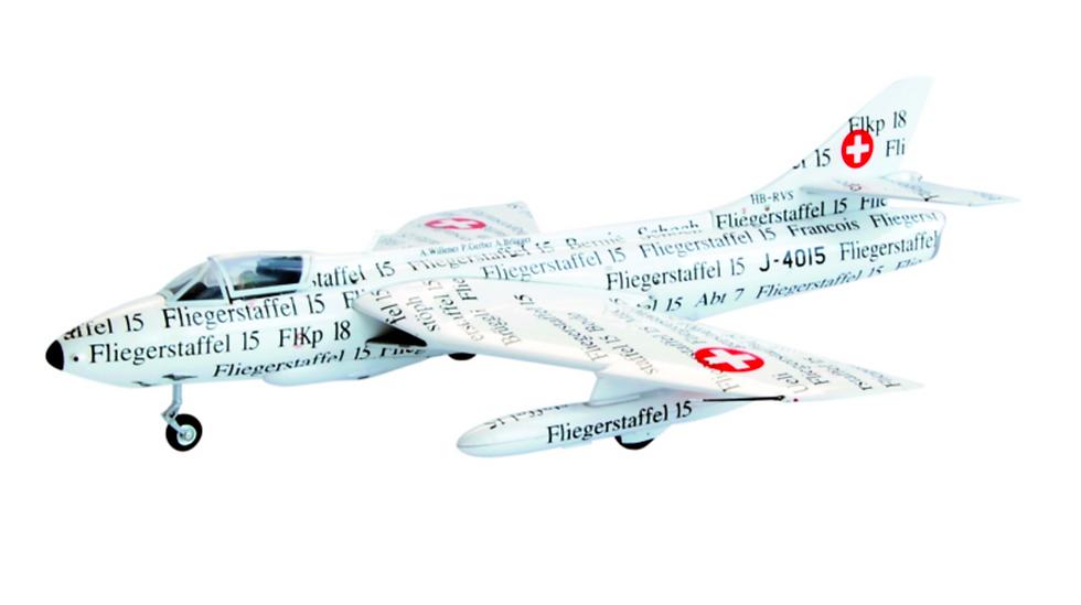 """ACE collectors edition Hawker Hunter Mk.58 J-4015 """"Papyrus"""" Métal 1:72"""
