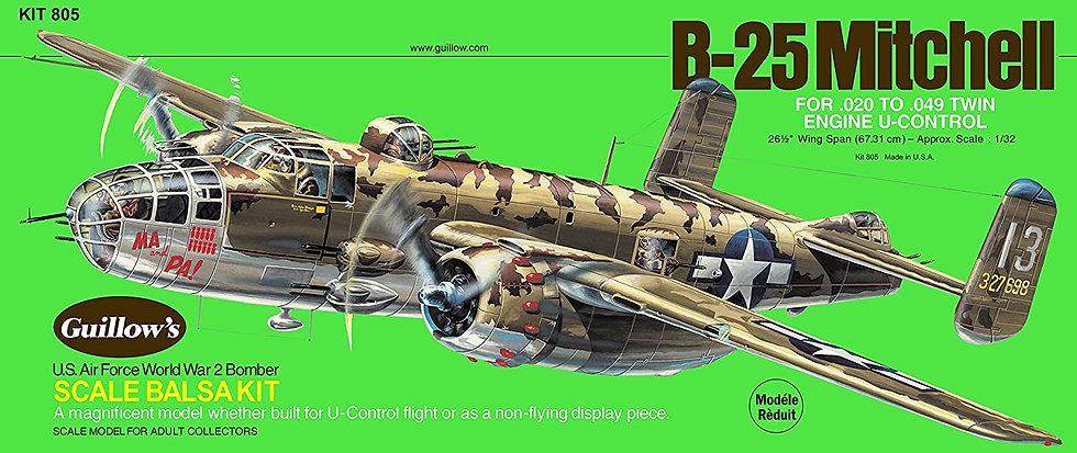 Avion en bois à construire Guillow's B-25 Mitchell