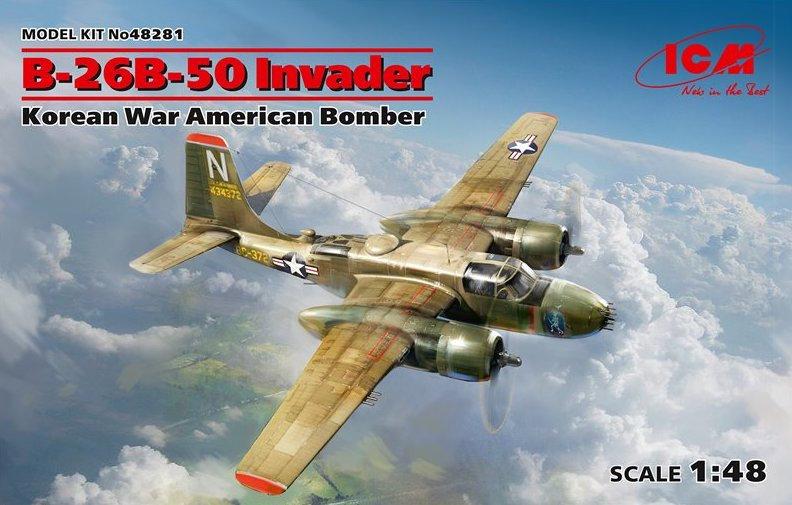 ICM B-26B-50 Invader, Korean War American Bomber 48281 1/48