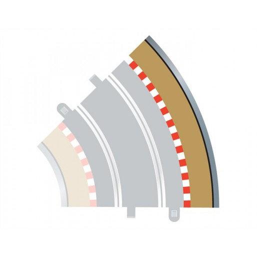 Scalextric Radius 2 Curve Outer Bordes 4x 45° a