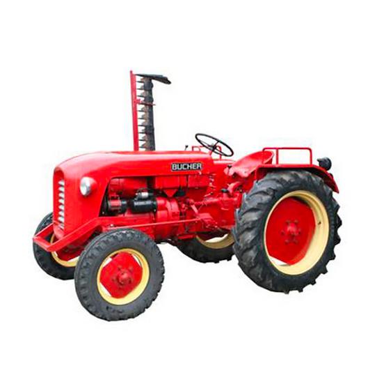 ACE collectors edition Bucher 1800 Traktor mit Motoregge en Résine 1:32