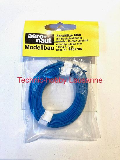 Câble éléctrique Bleu - 24x0.1m