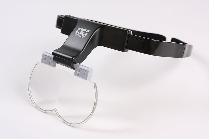 Casque loupe visière grossissante Tamiya