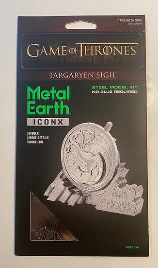 Metal Earth Game of Thrones Targaryen Sigil