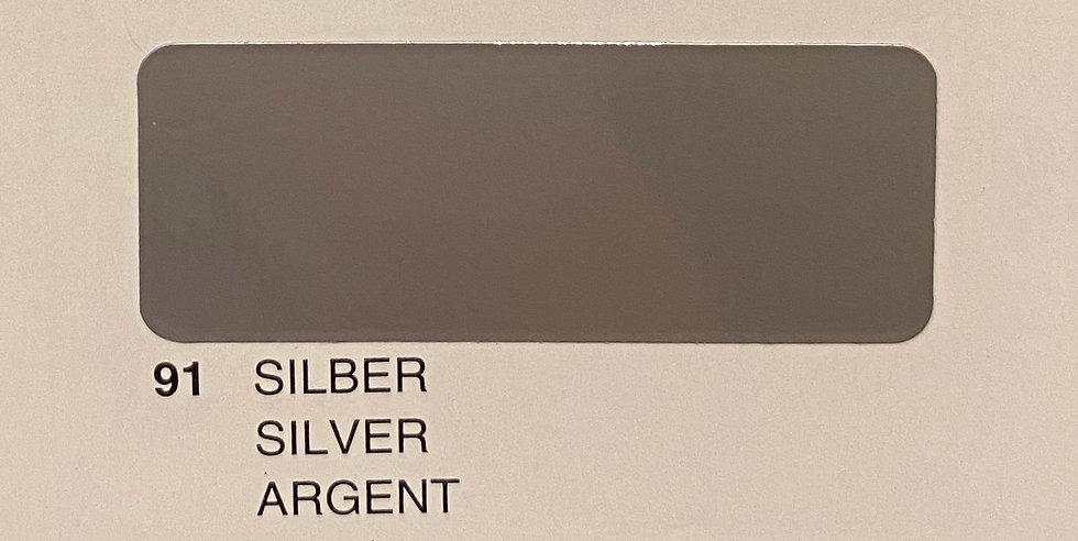 Oracover couleurs standard argent 91