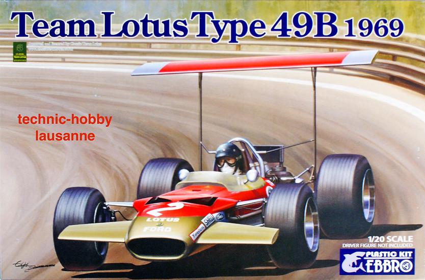 Ebbro Team Lotus Type 49B 1969 1/20