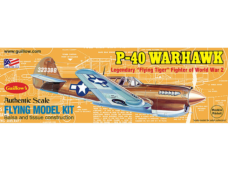 Guillow's P-40 Warhawk