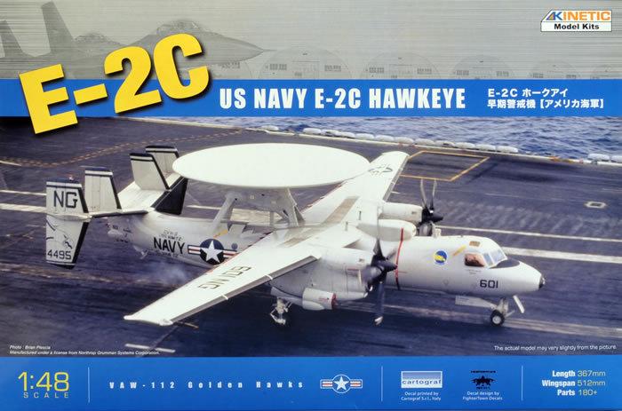 Kinetic Model Kits 1/48 US Navy E-2c Hawkeye K48013