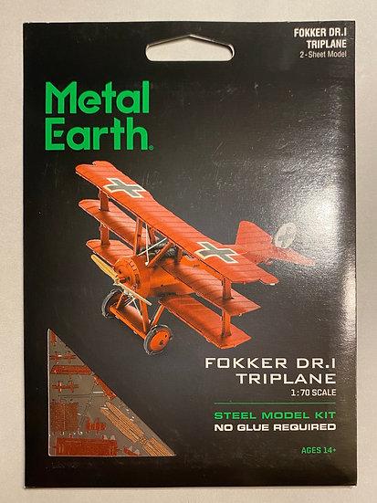 Metal Earth Fokker DR.I Triplane
