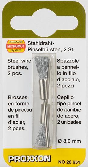 Proxxon Brossse en forme de pinceau en fil d'acier 2pces