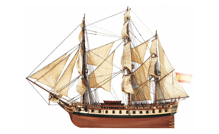 Maquette de bateau à construire Frégate Diana de OCCRE 14001