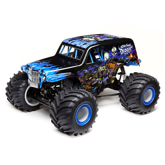 Losi LMT 4WD Solid Axle Monster Truck RTR, Son-uva Digger Bleu
