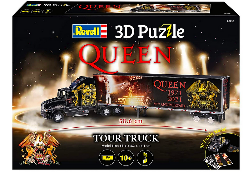 Revell 3D Puzzle QUEEN Tour Truck - 50th Anniversary