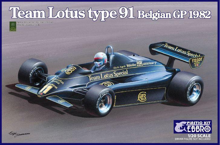 Ebbro Team Lotus Type 91 Belgian GP 1982 1/20