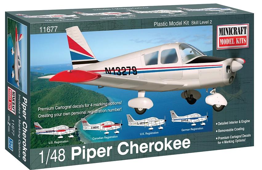 Minicraft Model Piper Cherokee 1/48 MIN11677