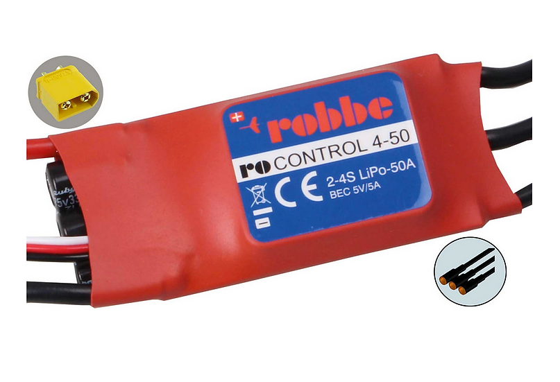 Robbe Controleur Brushless RO-Control 4-50A 2-4S BEC 5V/5A 8712
