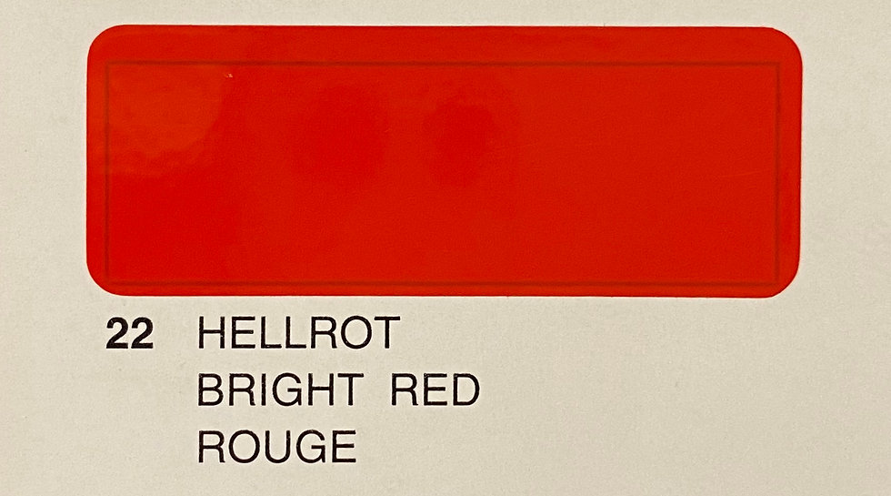 Oracover couleurs standard rouge 22