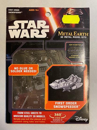 Metal Earth Star Wars First Order Snowspeeder