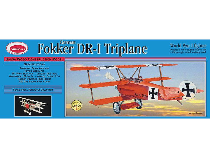 Avion en bois à construire Guillow Fokker DR-I Triplane