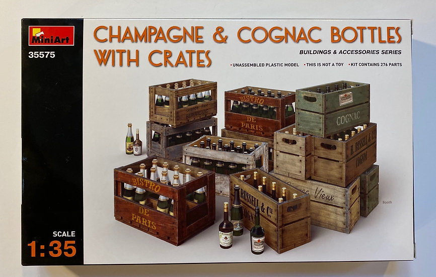 MiniArt Champagne & Cognac Bottles with Crates 1/35 MIN35575