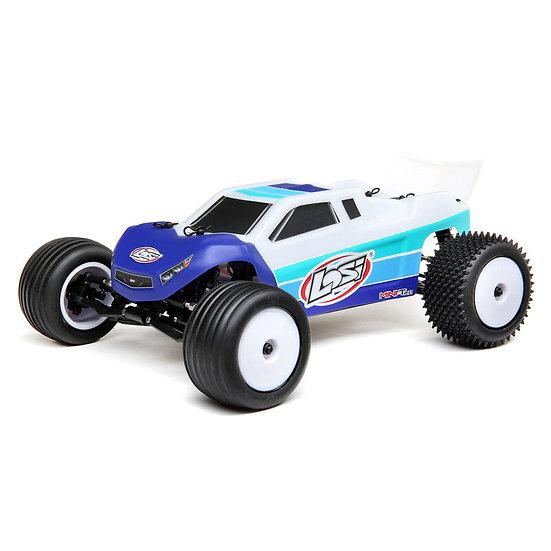 Losi 1/18 Mini-T 2.0 2WD Stadium Truck Brushless RTR, Bleu