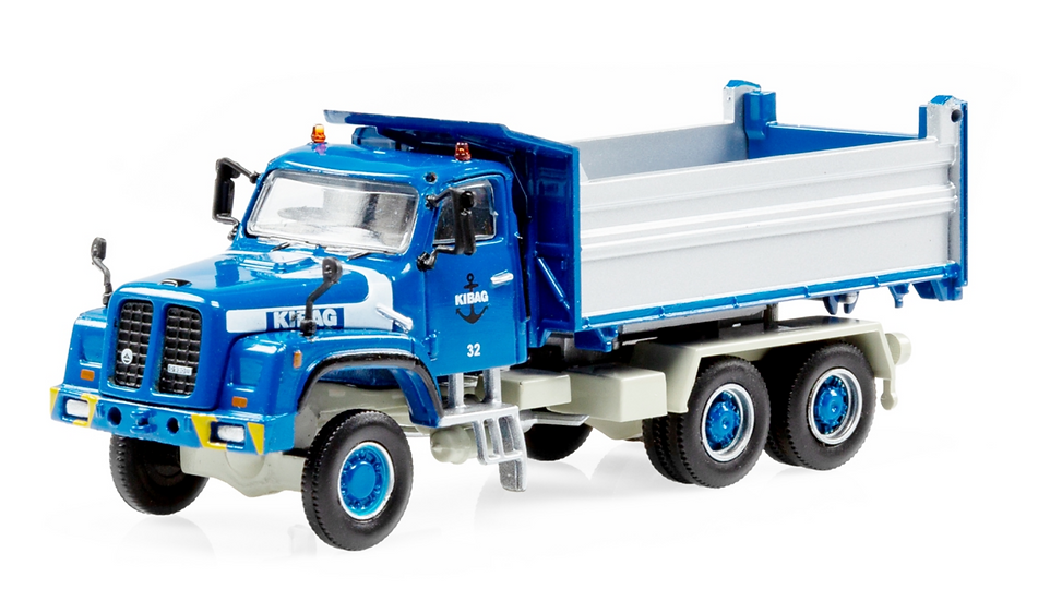 ACE collectors edition Saurer D330N 6x6 Kipper KIBAG blau en Plastique 1:87