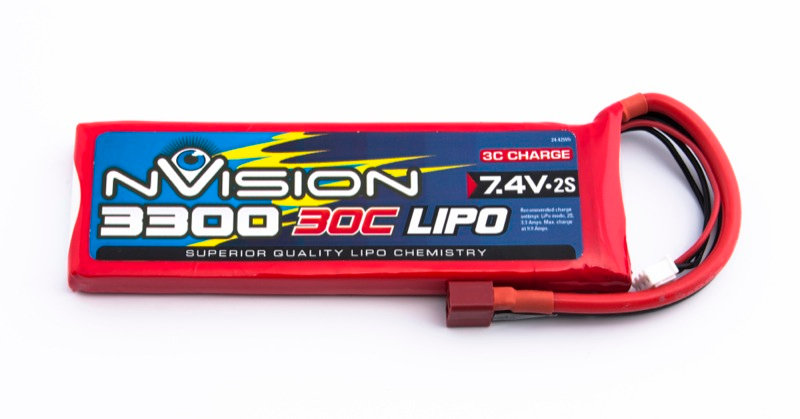 nVision Li Po 2s 7,4V 3300 30C