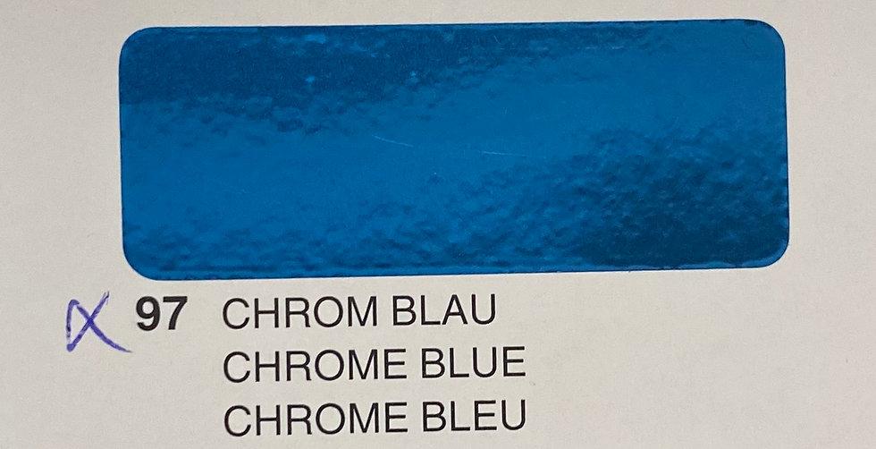 Oracover gamme spéciale chrome bleu 97