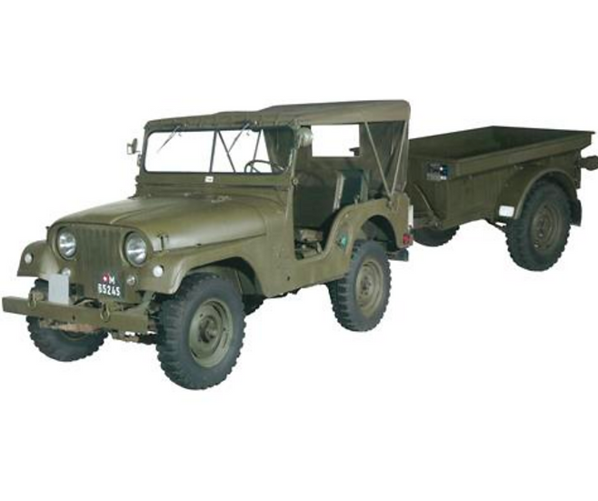 ACE collectors edition Willys M38A1 Armee-Jeep mit Aebi Gelpw Plastique 1:87