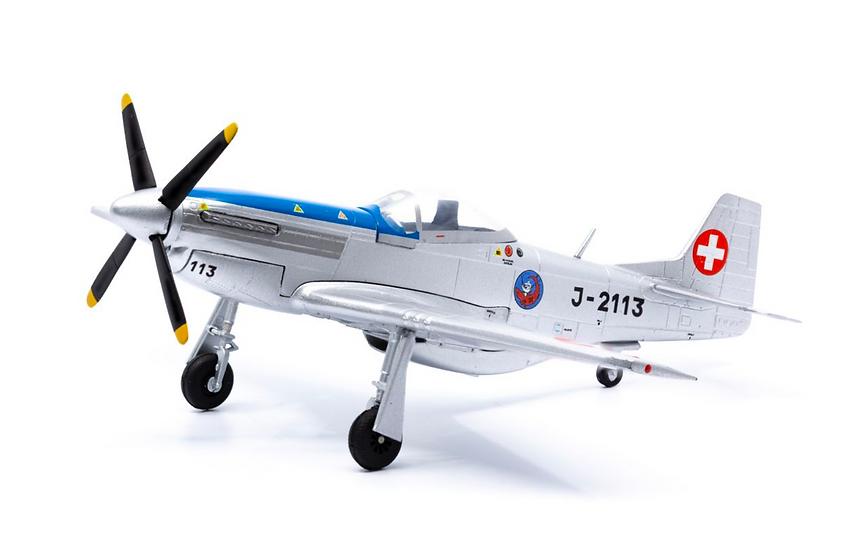 ACE collectors edition North American P-51 D Mustang J-2113 (1948) Métal 1:72