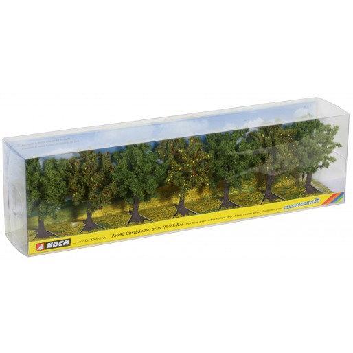 Noch Arbres fruitiers verts 7pcs