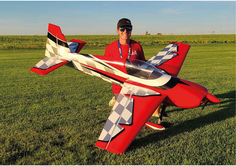 """Extreme Flight  SLICK 114"""" Rouge/Blanc ARF"""