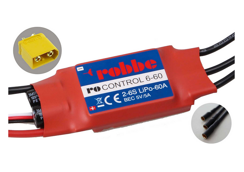 Robbe Controleur Brushless RO-Control 6-60A 2-6S BEC 5V/5A 8712