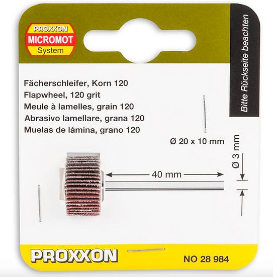 Proxxon Meule à lamelles, grain 120, 20x10mm