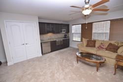 Bedroom Kitchen and Linen Closet