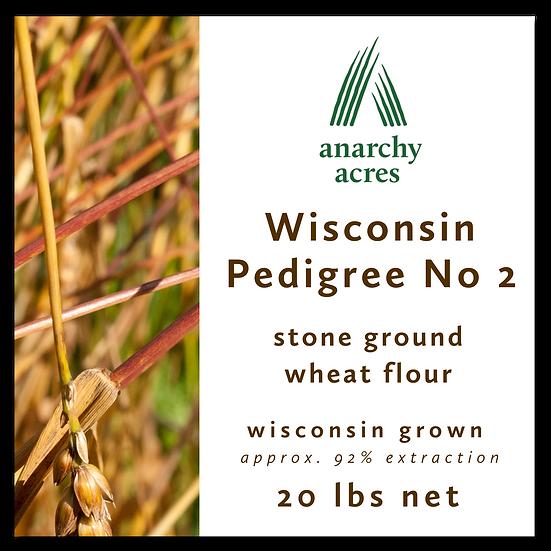 20 lb bag, Wisconsin No 2 Flour, 92% extraction