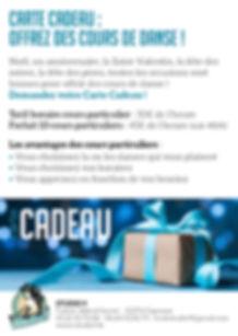 Carte cadeau | Studio 9 | Ecole de danse Cugnaux Toulouse Muret