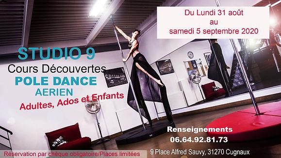 Semaine découverte Pole Dance Studio 9