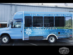 Discovery Memory care transit bus wrap a