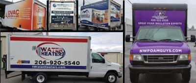 Business box truck wraps by Vinyl Lab