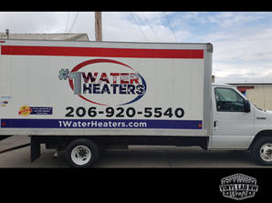 Ford box truck vinyl graphics partial wr
