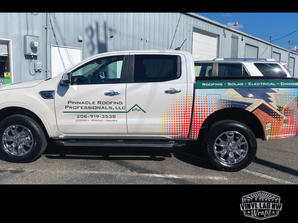 Partial Ford Ranger wrap for Pinnacle Ro