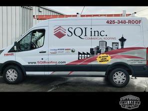 Partial vinyl graphics wrap for SQI Inc