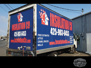 Full ford box truck wrap for insulation