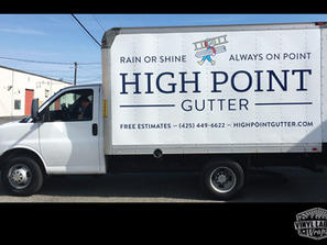 High point gutters box truck wrap by Vin