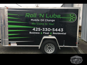 Enclosed trailer vinyl graphics for Roll