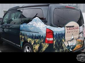Campbell Auto Group Caravan Outfitter van wrap by Vinyl Lab NW Wraps Mercedes Metris