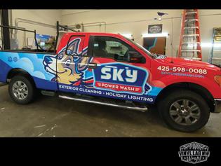 Sky Powerwash of arlington vinyl truck wrap